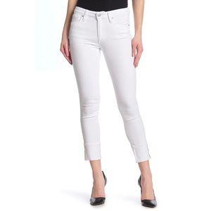 NWT Joe's Jeans white Cuff Crop Skinny Jeans